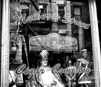 Photograph - Mulberry Street Cigar Company New York City by John Rizzuto