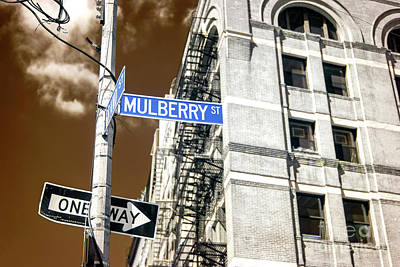 Photograph - Mulberry Street Infrared New York City by John Rizzuto