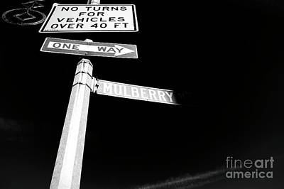 Photograph - Mulberry Street One Way New York City by John Rizzuto