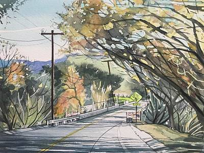 A White Christmas Cityscape - Mulholland at Las Virgenes by Luisa Millicent