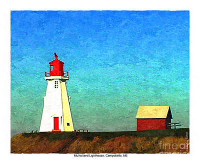 Digital Art - Mulholland Lighthouse, Campobello by Art MacKay