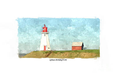 Digital Art - Mullholand Lighthouse 2 by Art MacKay