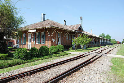 Vintage Ford - Mullins, SC Train Depot by Gordon Mooneyhan
