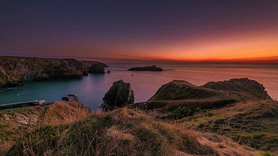 Mullion Cove - Sunset 2 Art Print
