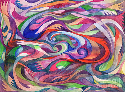 Painting - Multicolor Abstraction by Dobrotsvet Art