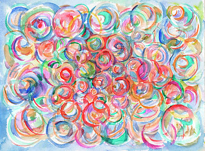 Painting - Multicolor Bubbles by Dobrotsvet Art