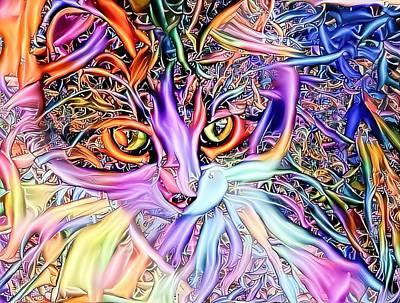 Studio Grafika Zodiac - Multicolor Spaghetti Cat by Don Northup