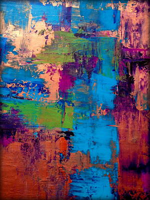 Door Locks And Handles - Multicolored Abstract by Holly Anderson