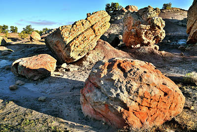 Photograph - Multicolored Boulders Of Bentonite Site by Ray Mathis