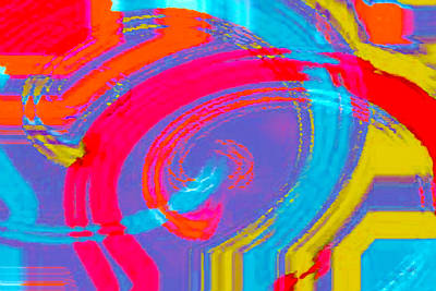 Digital Art - Multicolored Extravaganza Abstract by Ben and Raisa Gertsberg