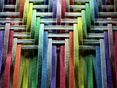 Photograph - Multicolored Of White Paper Strips by Photo Ephemera
