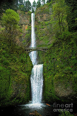 Photograph - Multnomah Falls by Jon Burch Photography
