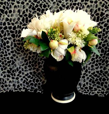 Photograph - Mums-buds-blooms In Blackurn Still Life by VIVA Anderson