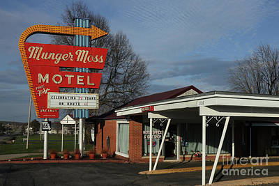 Anne Geddes Florals - Munger Moss Motel on Route 66 by Garry McMichael