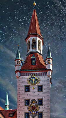 Photograph - Munich Bell Tower by Anthony Dezenzio