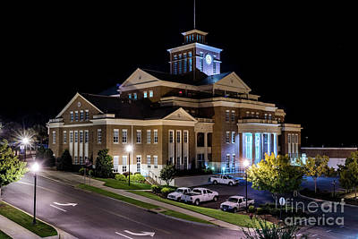 Photograph - Municipal Center At Night - North Augusta Sc by Sanjeev Singhal