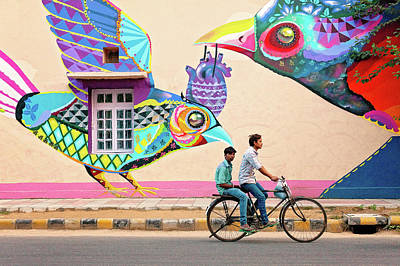 Photograph - Mural Art by Marji Lang