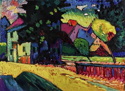 Kandinsky Wall Art - Painting -  Murnau - Landscape With Green House  by Wassily Kandinsky