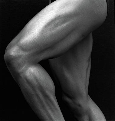 Photograph - Muscular Legs Of Sprinter, Close Up by Joseph Mcnally
