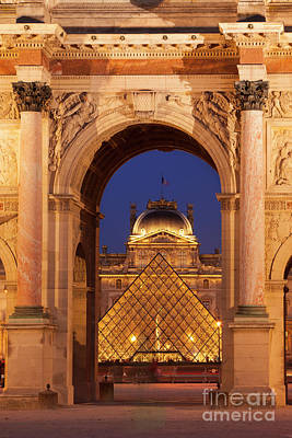 Photograph - Musee Du Louvre Night by Brian Jannsen