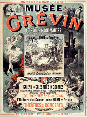 Painting - Musee Grevin Vintage French Advertising by Vintage French Advertising