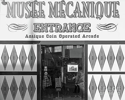 Photograph - Musee Mechanique Vintage Penny Arcade Dsc6813 Bw by Wingsdomain Art and Photography