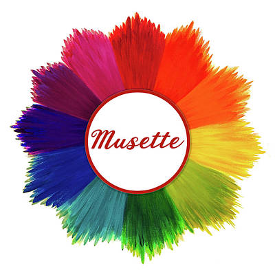 Painting - Musette Logo by Shiloh Sophia