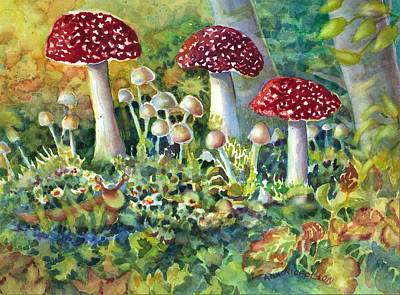 Painting - Mushroom And Visitor by Ann Nicholson