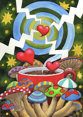 Painting - Mushroom Tea by Catherine G McElroy