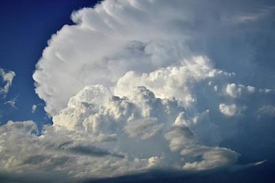 Photograph - Mushrooming Thunderheads Over Nebraska by Ray Mathis