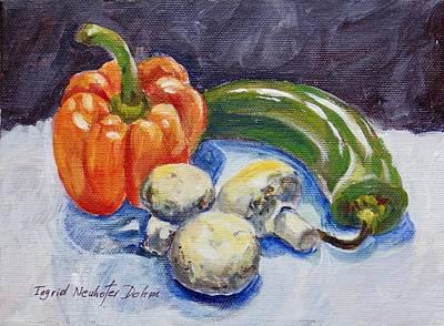Painting - Mushrooms by Ingrid Dohm