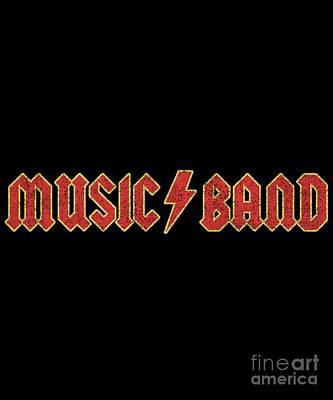 Digital Art - Music Band Vintage by Flippin Sweet Gear