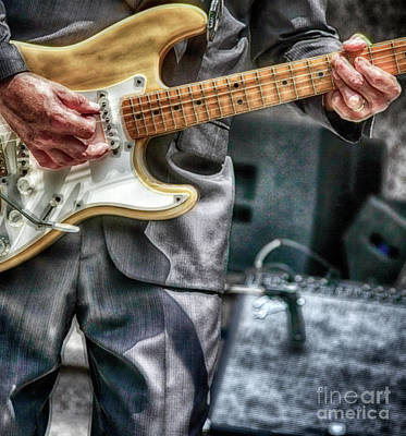 Music By The Neck  Art Print by Steven Digman