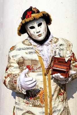 Photograph - Music Man At The Carnevale Di Venezia by John Rizzuto