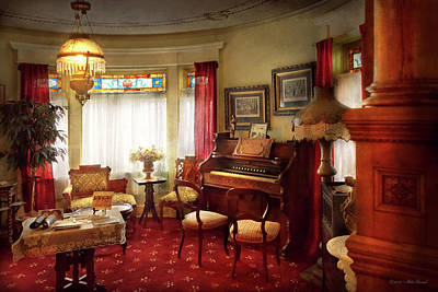 Photograph - Music - Organ - In The Parlor by Mike Savad