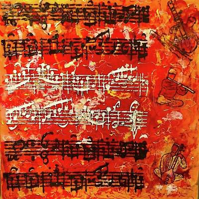 Painting - Musical Abstract #1 by Michael Giannella
