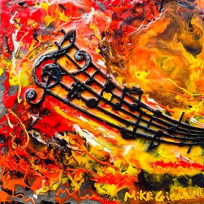 Painting - Musical Fiery by Michael Giannella