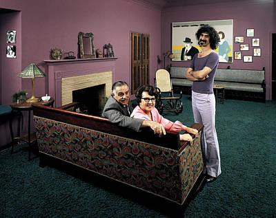 Musician Frank Zappa R W. Parents L-r Art Print