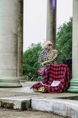 Musicians Royalty Free Images - Musician in City Park Nola - 1 Royalty-Free Image by Kathleen K Parker