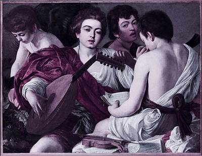 Musicians Royalty Free Images - Musicians by Caravaggio -  infrared version Royalty-Free Image by Celestial Images