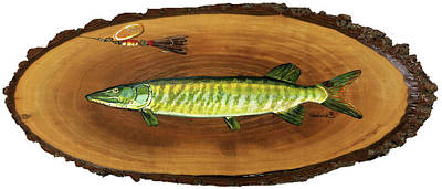 Painting - Muskellunge by Phil Chadwick