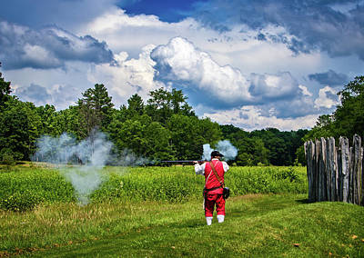 Photograph - Musket Firing At Fort Necessity by Carolyn Derstine