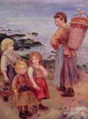Painting - Mussel Fishers At Berneval, 1879 by Pierre Auguste Renoir