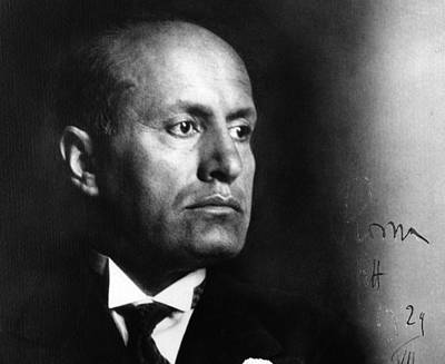 Photograph - Mussolini 1935 by Fox Photos