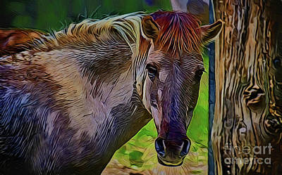 Painting - Mustang A18-10 by Ray Shrewsberry