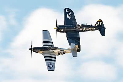Photograph - Mustang And Corsair, The Class Of 45 by Chris Buff