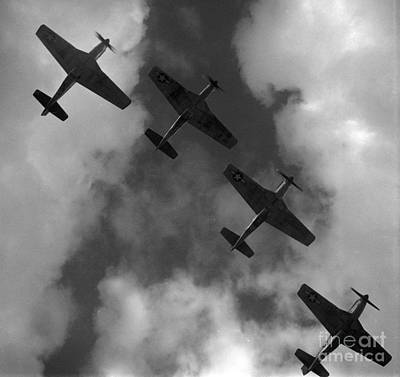 Photograph - Mustang Formation by Toni Frissell