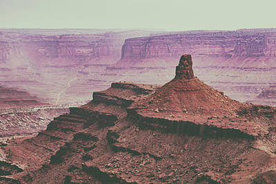 Photograph - Muted Desert Canyon Overlook by Kyle Lee