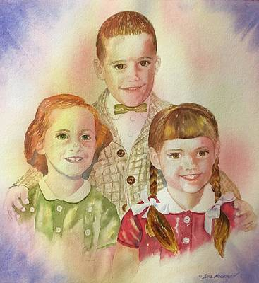 Painting - The Latimer Kids by Tara Moorman