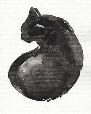 Painting - My Black Cat by Judith Kunzle